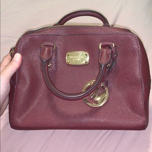 Michael Kors Bags - Maroon Michael Kors Handbag with Shoulder Strap